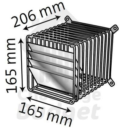 Grille d flecteur d125 ventouse toutes les pi ces for Chaudiere ventouse ou cheminee