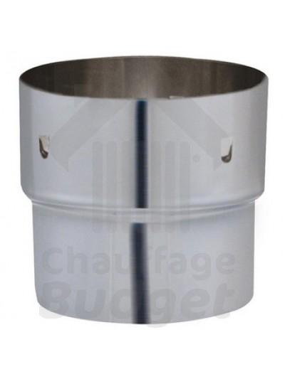 Chauffage-Budget: fumisterie inox adaptateur conduit rigide - tubage diamètre 125