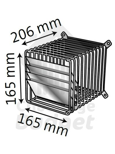 Grille avec déflecteur pour chaudière ventouse Ø80/125 basse température