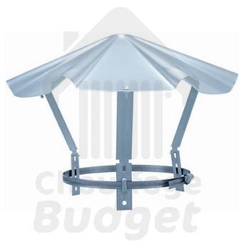 chapeau chinois inox pour tubage 125 chemin e fumisterie toutes les pi ces. Black Bedroom Furniture Sets. Home Design Ideas