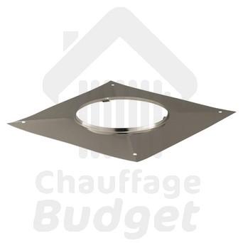 Chauffage-Budget: fumisterie inox plaque carrée étanchéité pour tubage diamètre 125
