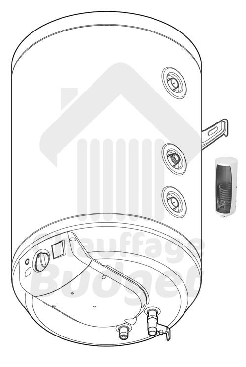 ballon d 39 eau chaude sanitaire saunier duval we 100 me. Black Bedroom Furniture Sets. Home Design Ideas