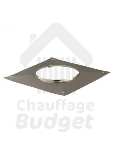 Chauffage-Budget: Fumisterie inox plaque carrée étanchéité pour tubage diamètre 153