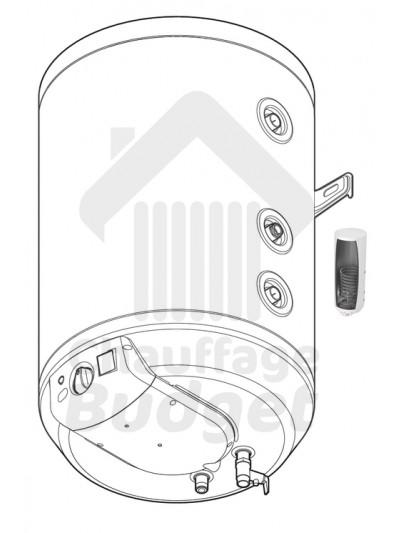 Ballon d'eau chaude sanitaire réchauffeur Saunier Duval WE75ME