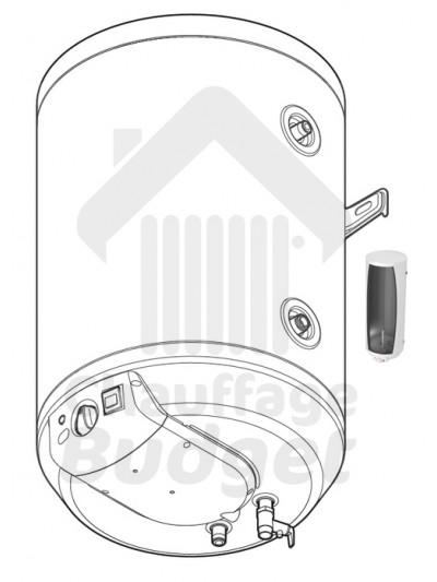 Ballon d'eau chaude sanitaire accumulateur Saunier Duval WEL75ME